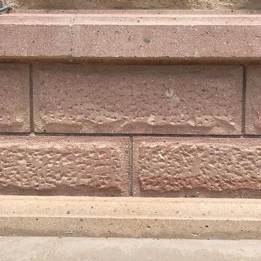 Su Basmanı ve Duvar İçin Çekiçlenmiş Taş